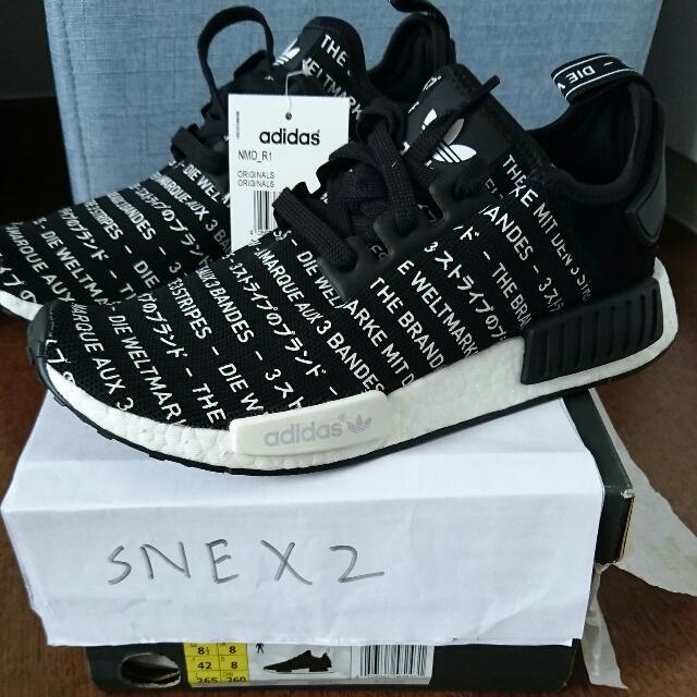 buy popular 8e66c 31ae0 Adidas originals NMD R1 Blackout