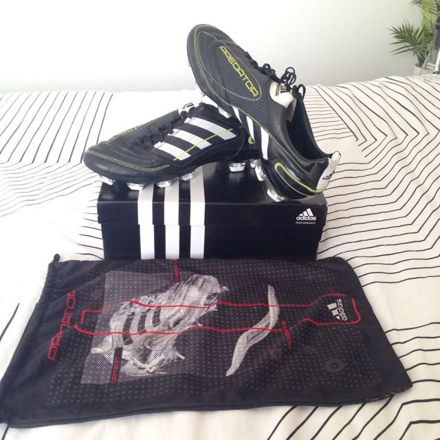 adidas Predator X Football Boots - Black/White/Electricity