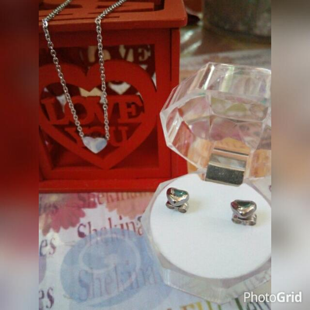 Affordable Stainless Necklace and Earrings Set