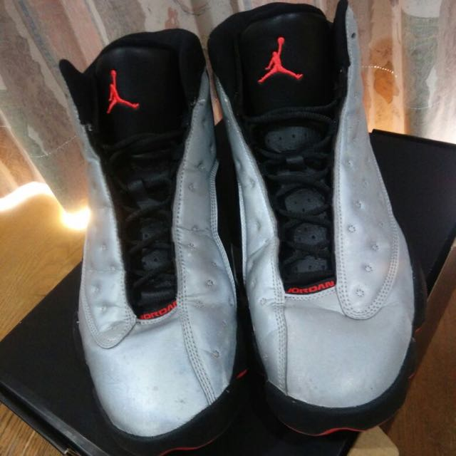 d32a20022f10 air jordan 13 retro premium reflective silver infrared 23-black ...