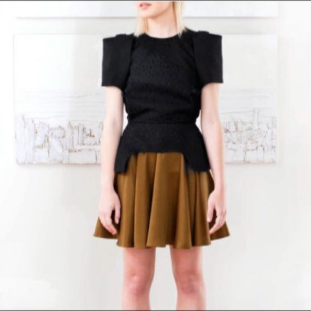 Arnley Amelia Circle Skirt In Toffee Size: 10 (runs small)