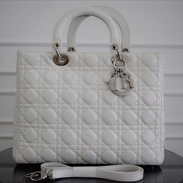 9576bc00a Authentic Pre-owned Christian Lady Dior Handbag With Sling, Luxury ...
