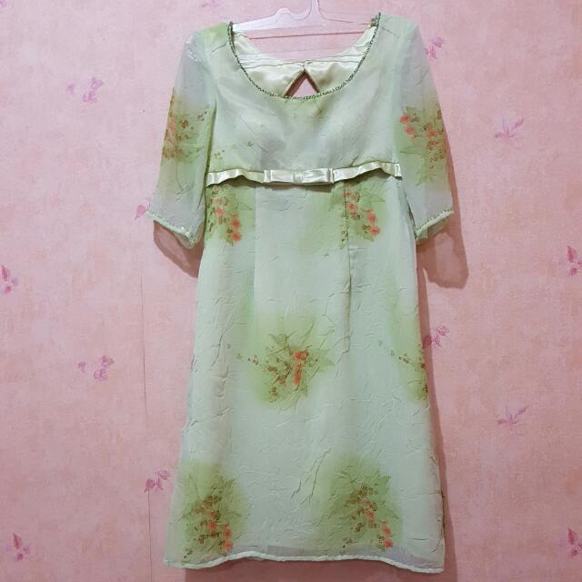 Babydoll Green Dress