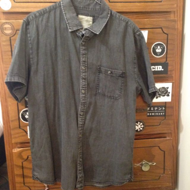 Black Acid Wash Shirt