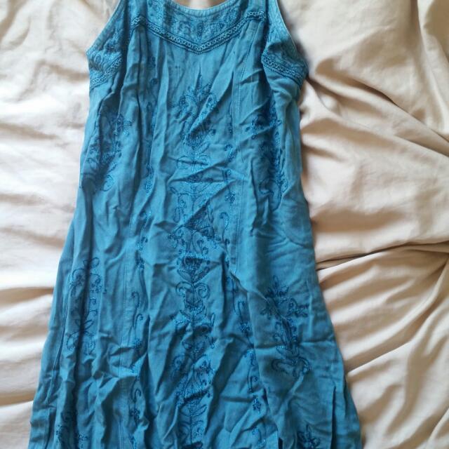 Blue Handmade Dress