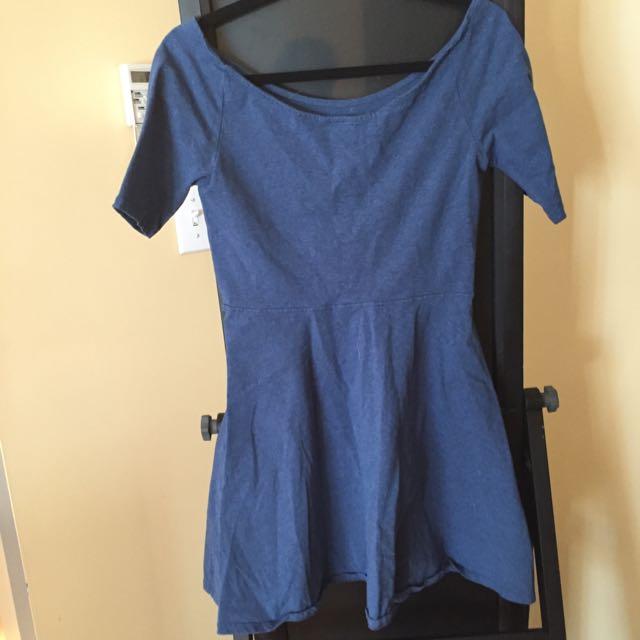 Aritzia Blue Talula Skater Dress