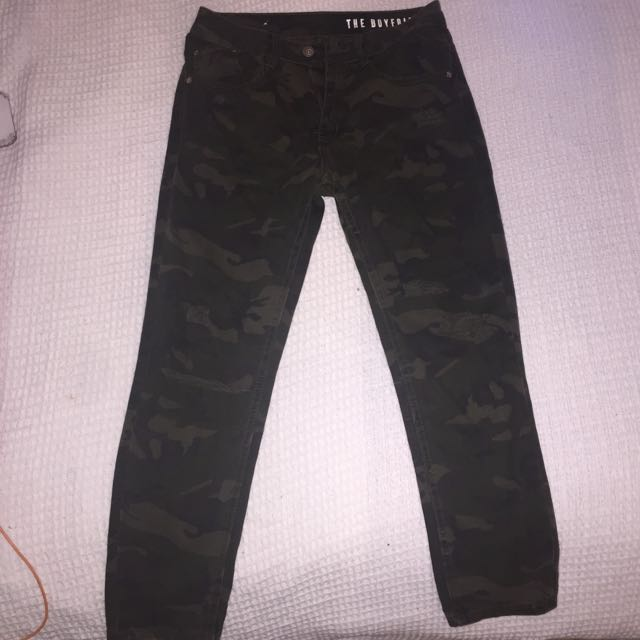 Camo Boyfriend Jeans