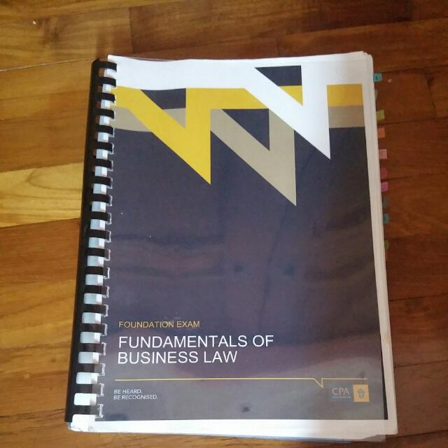 CPA Australia Fundamentals of Business Law for Foundation Exam
