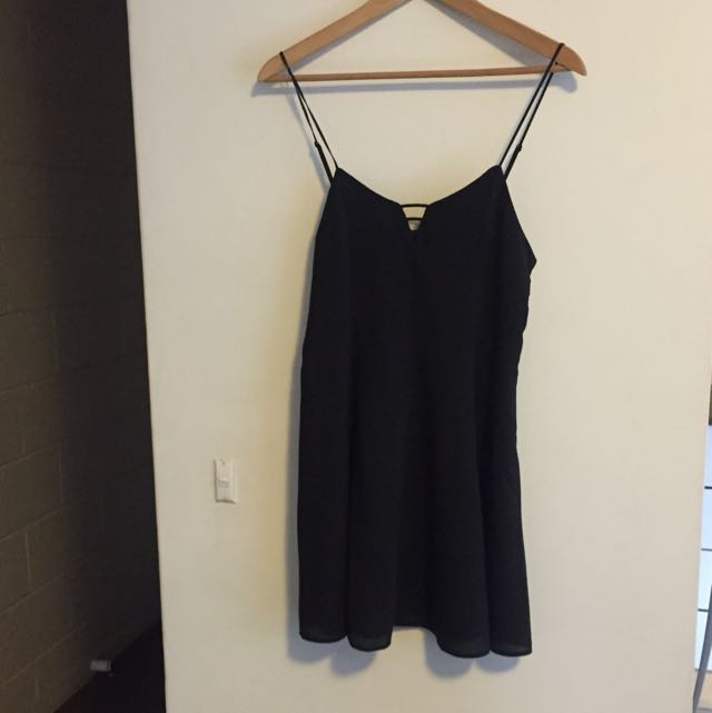 Don't Ask Amanda Black Mini Dress Size: M (runs small)