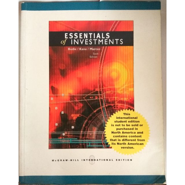 Essentials of Investment 6th Edition