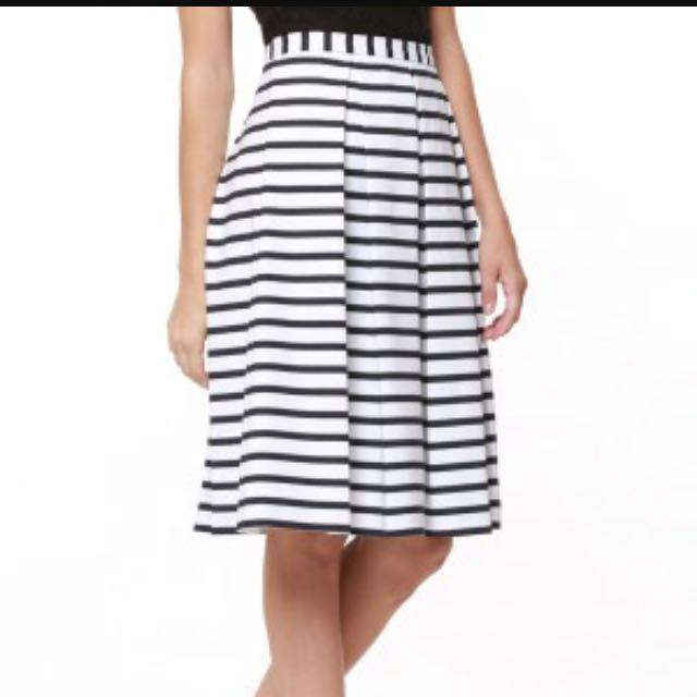 Forever New Stripe Midi Skirt