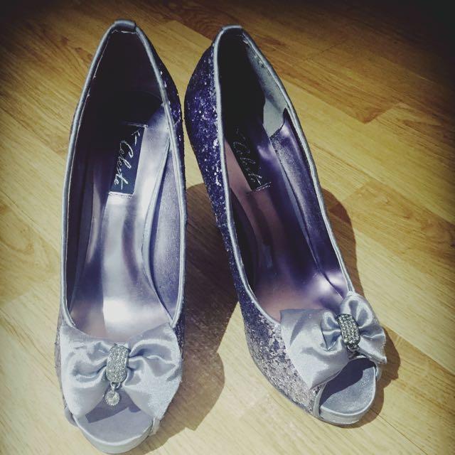 High Heel Glitter Shoes