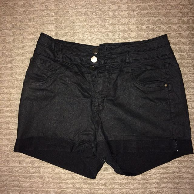 High Waisted Black Stretchy Booty Shorts