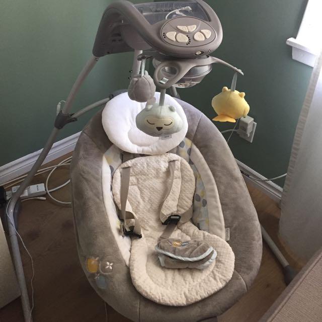 Ingenuity InLighten Cradling Swing and Rocker