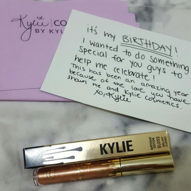 Kylie Jenner Birthday Popin Lip Gloss