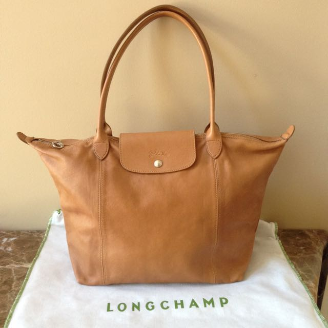 Longchamp Camel Leather Bag