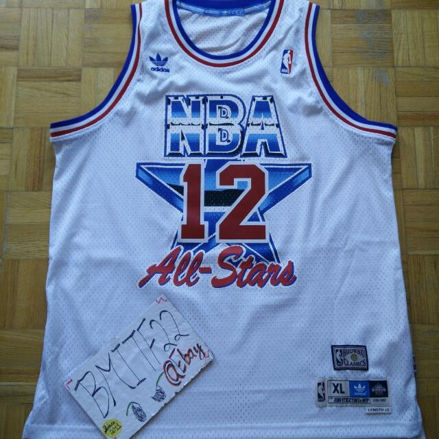 promo code 943ca f8e95 Nwot NBA John Stockton Adidas Utah Jazz All-Star HWC Retro Soul Swingman  Jersey Men Size XL
