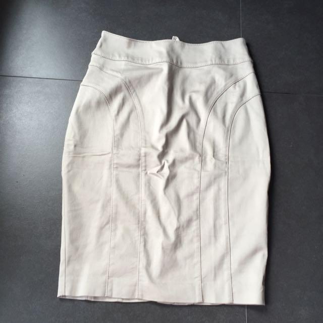 Ori Beige HnM Working Skirt Size 34