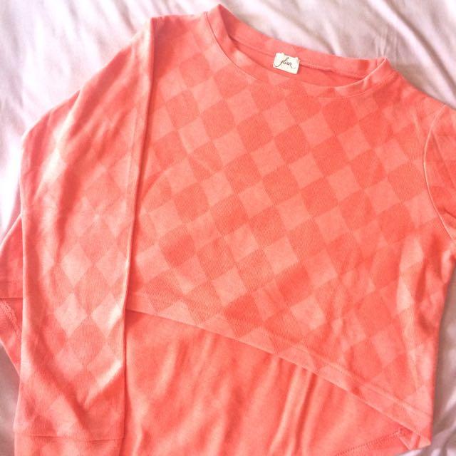 Peach Orange Sweater