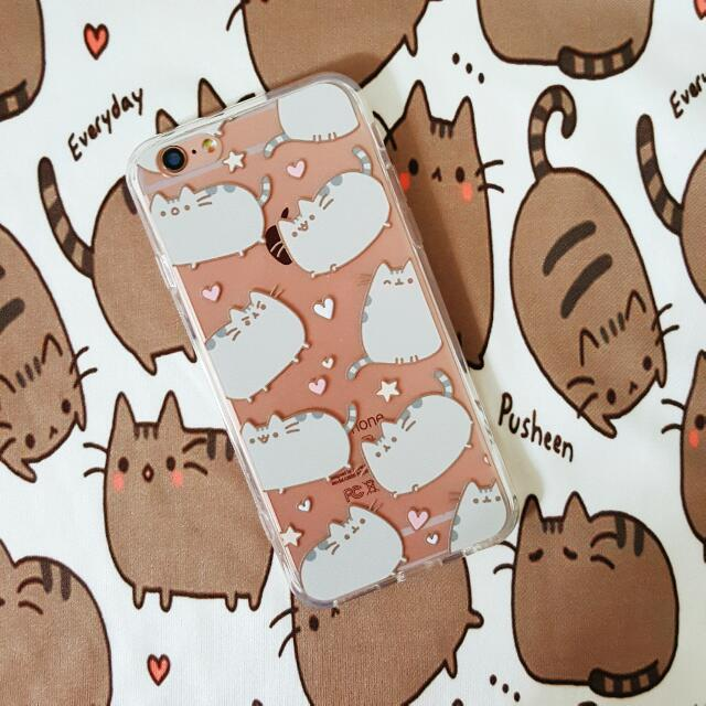 los angeles 5603c a207f Pusheen Grey Cute Cat Kitten iPhone 7 7Plus 6 6S 6Plus 5 5S 5SE TPU PC  Transparent Clear Case Cover