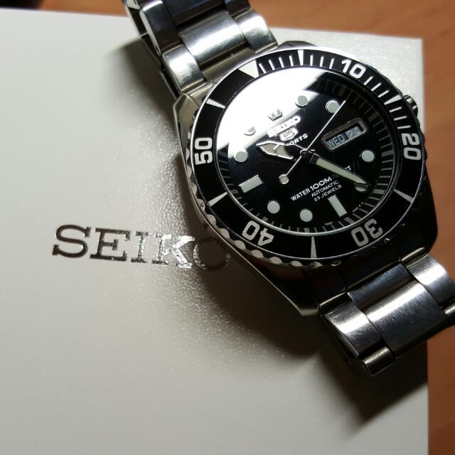 Seiko 精工5號 潛水機械錶 snzf17 K1