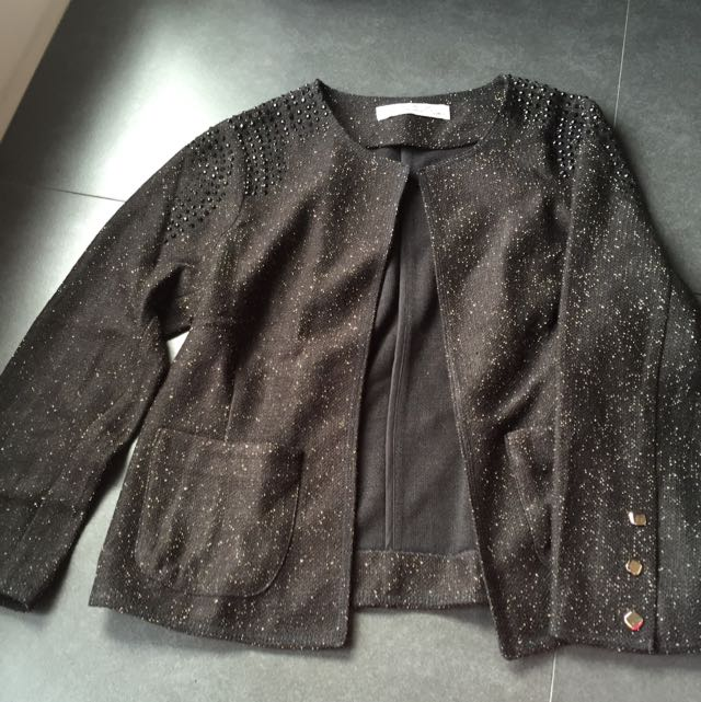 Semi Blazer Black With Gold Accent Size 34 Or S