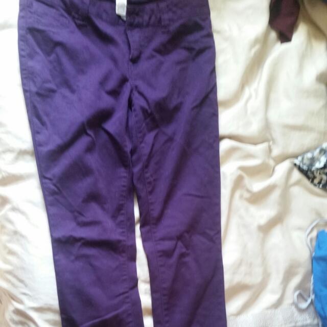 Size 6 Purple Skinny Jeans Jeggings