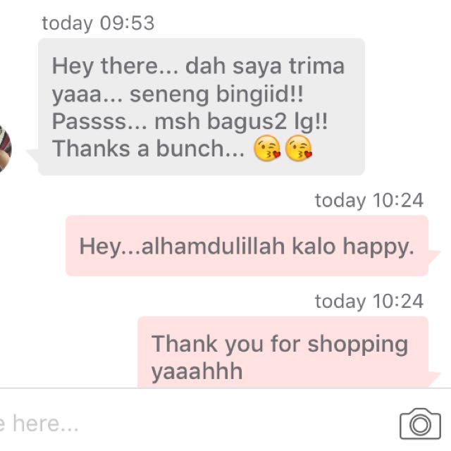 Testimonial From Satisfied Consumer. Thank You for Shopping 😘😘😘