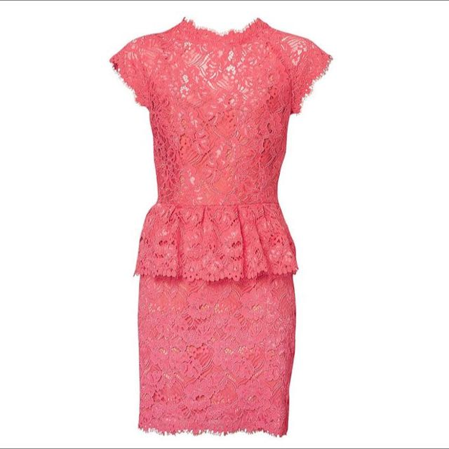 Witchery Pink Lace Peplum dress