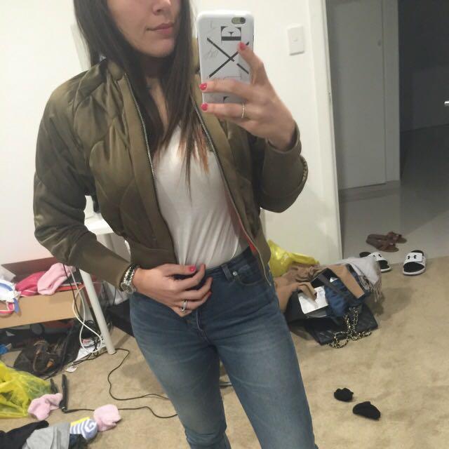 Zara Silk Bomber