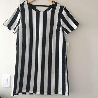 STRIPED FOREVER 21 SHIFT DRESS