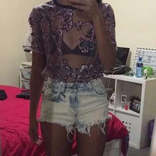 Topshort Denim Shorts