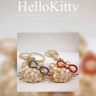 ❤️飾品小物❤️手工鑽飾HelloKitty(貓眼石)