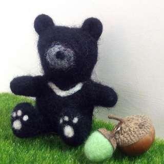 台灣黑熊羊毛氈