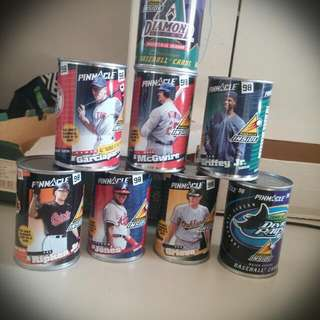 Baseball Card Cans No Cards Unless you Buy Them As well