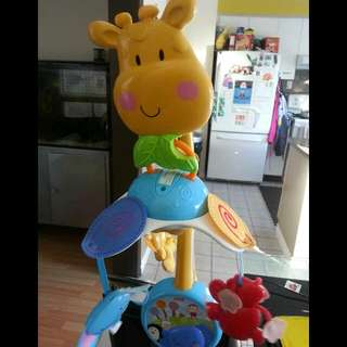 Gently Used High Chair And Crib/Stroller Mobile