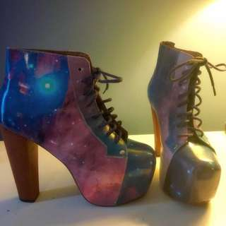 Jeffrey Campbell space platform heels