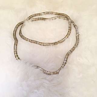 Flexible Gold And Silver Necklace/bracelet