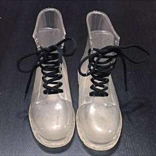 Clear Jelly Doc Style Boots