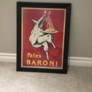 Framed Pates Baroni Art