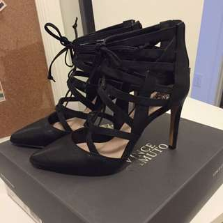 "Vince Camuto ""Druni"" Caged Lace-up Heels"