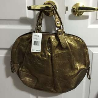 Brand New Lodis Metallic Leather Purse