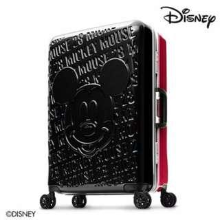 Disney 1928米奇浮雕復刻-24吋PC鏡面深鋁框箱(黑紅)