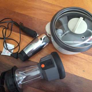 Ricecooker Blow dryer And Camping Lantern