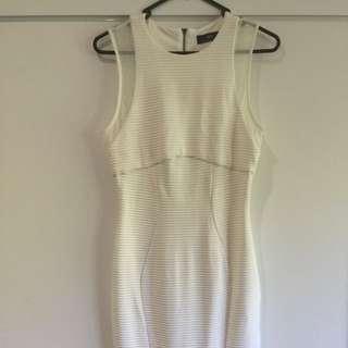 Cue White Mesh Bodycon Dress