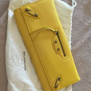 Balanciaga XL Clutch In Yellow