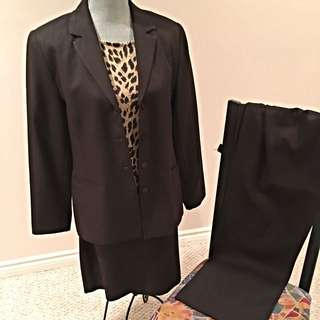 Beechers Brook Dark Brown 3 Piece Suit With Rino Rossi Top