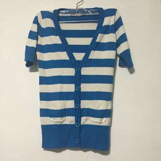 SWS Blue Striped Cardigan