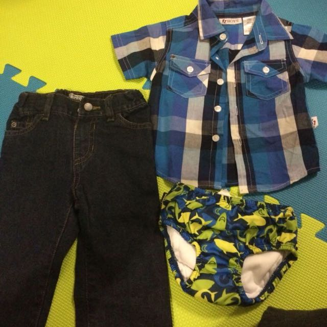 12-18 Months Outfit + Bonus Swimmers Undy