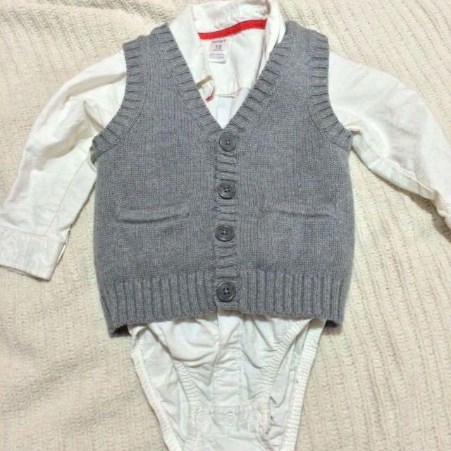 12-18months Vest And Shirt Onesie